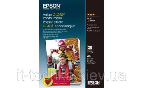 Глянцевая фотобумага epson a4 value glossy photo paper 20 листов (c13s400035) - IT-точка - магазин удобных покупок для дома и работы в Киеве
