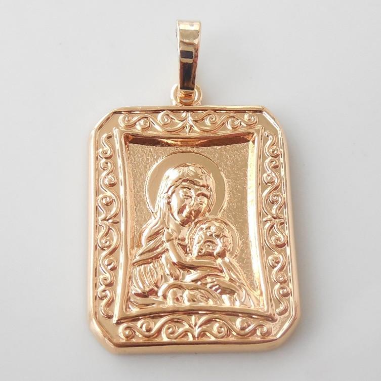 Ладанка Xuping Дева Мария  золото 18К л130