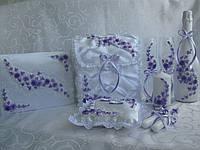 Свадебные аксессуары в сиреневом цвете
