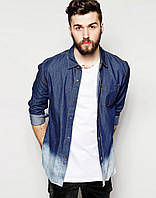 Мужская рубашка Bellfield - Denim Tie Dye Shirt (чоловіча сорочка)