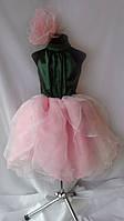 Платье нарядное Розовый Пион. Костюм цветочка