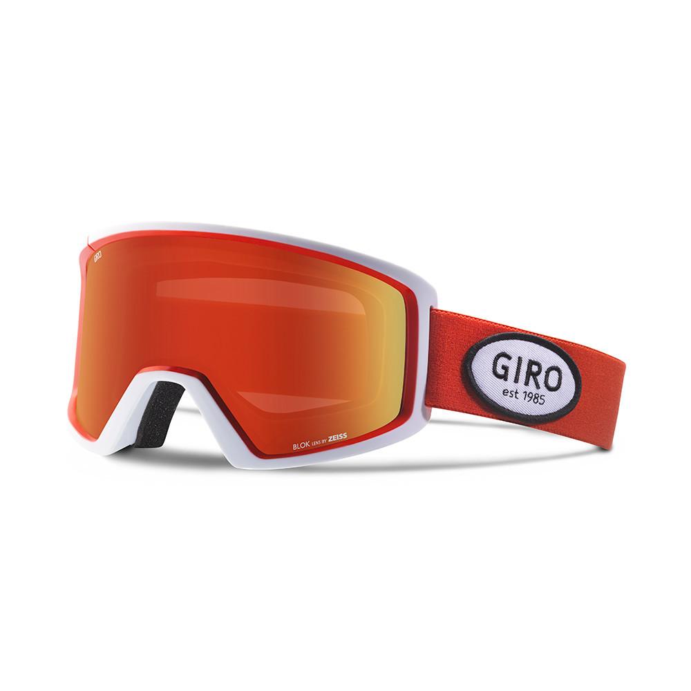 Горнолыжная маска Giro Blok Flash красная/чёрная, Amber Scarlet 40% (GT)