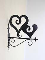 Кронштейн для подвесных цветов Сердца