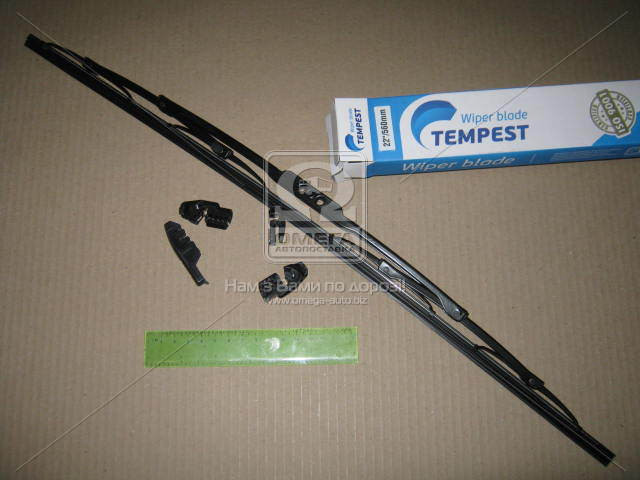 Щетка стеклоочистителя каркасная 560мм. (с адаптерами)  Tempest