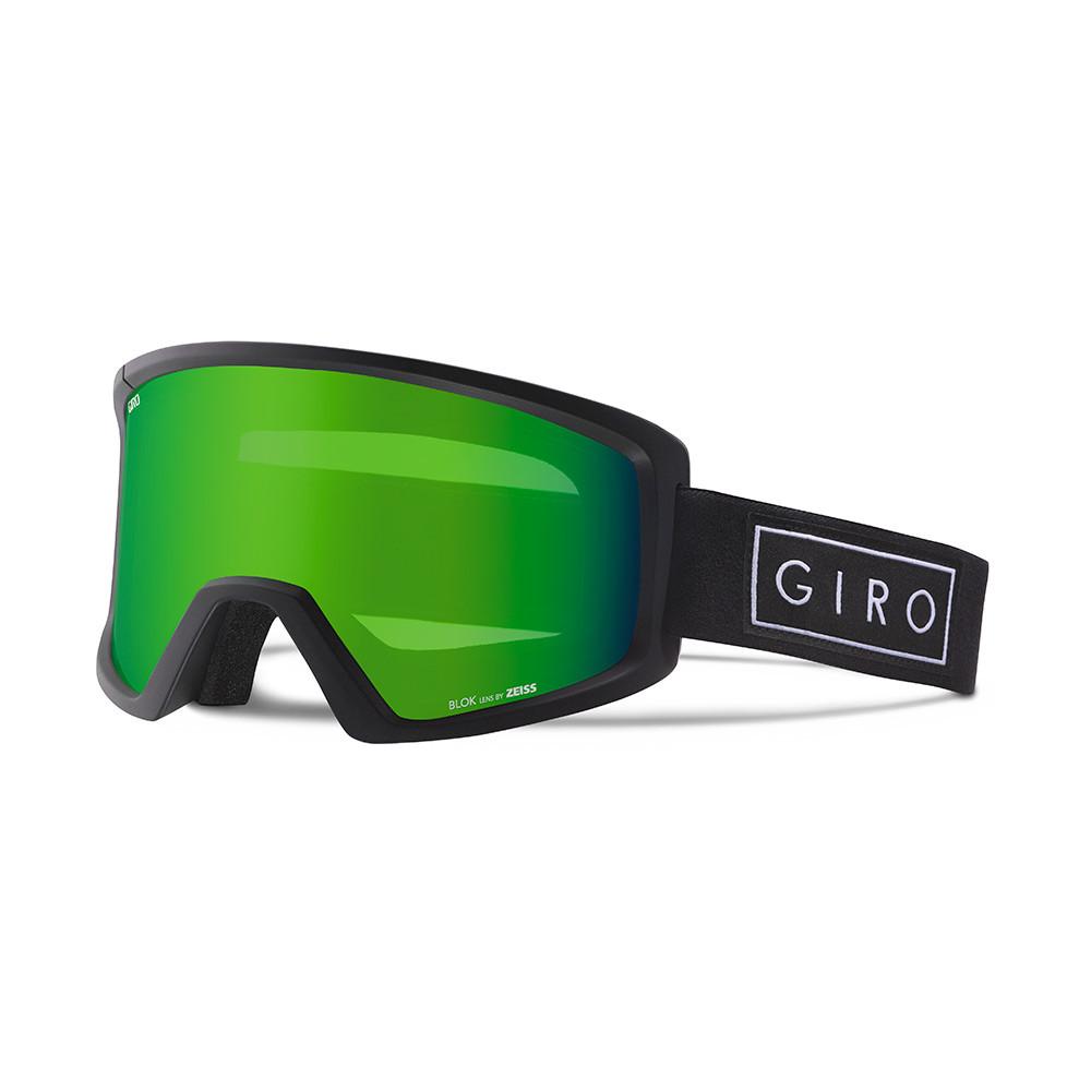 Горнолыжная маска Giro Blok Flash чёрная Bar, Loden green 26% (GT)