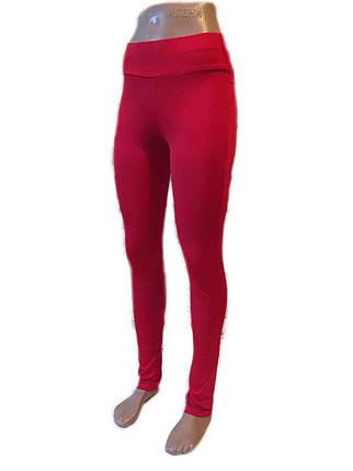 Женские брючные лосины микродайвинг красные, фото 2