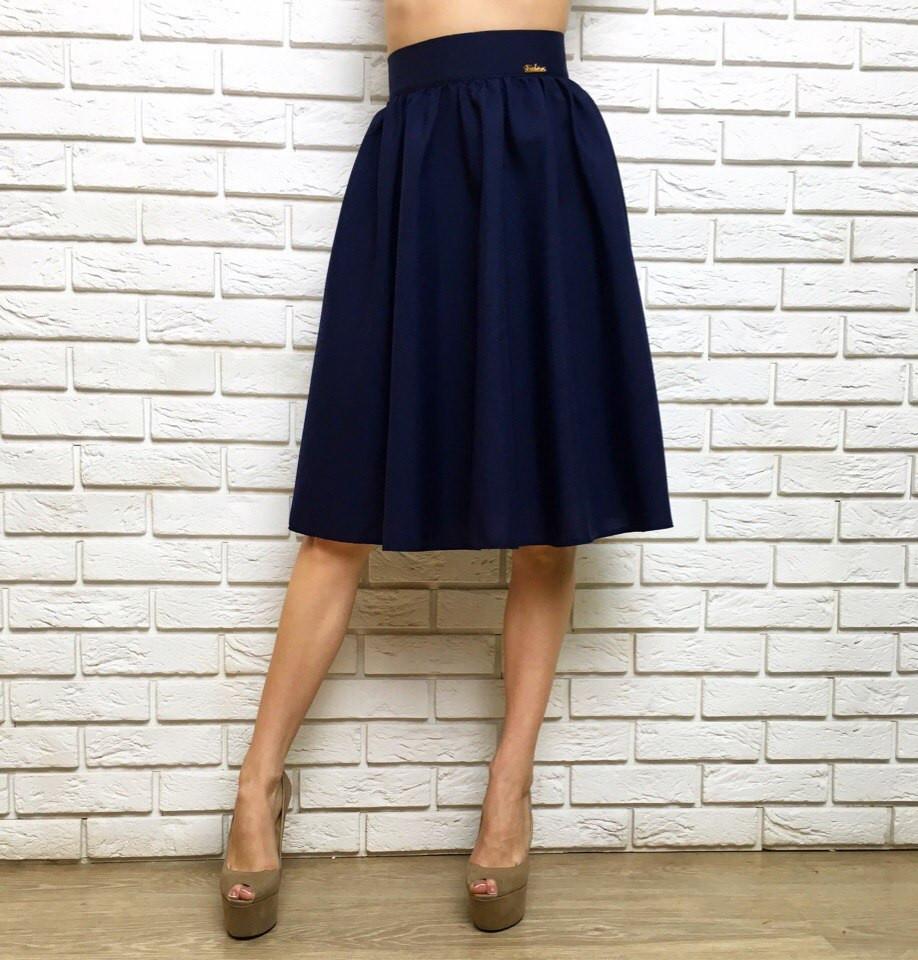 bf39c70ef98 Женская стильная юбка ниже колена миди - Стильная женская одежда оптом
