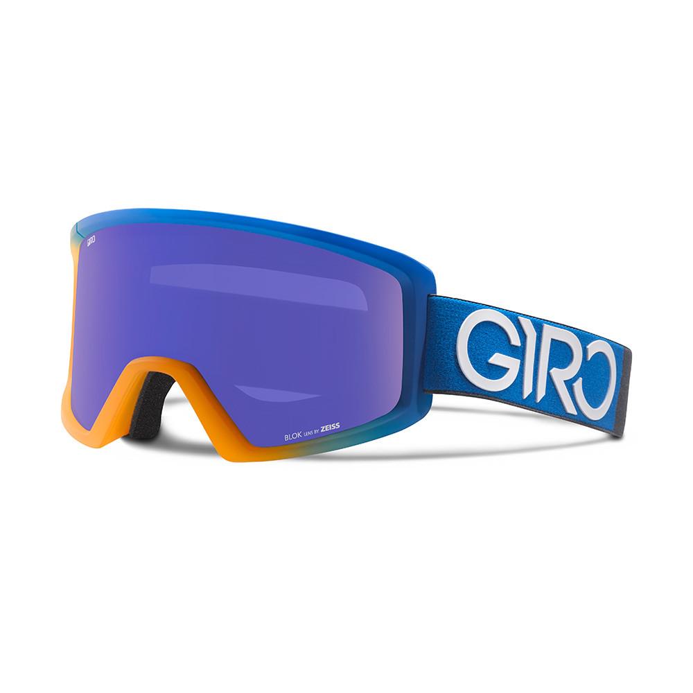 Горнолыжная маска Giro Blok Flash Flame/синяя Dual, Zeiss, Grey Purple 25% (GT)