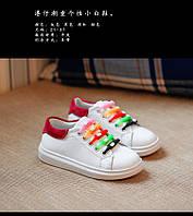 Кроссовки детские цветные шнурки