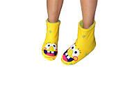 "Флисовые тапочки-сапожки ""Губка Боб"" (детские, размер 18-32)"
