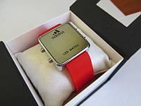Зеркальные часы Adidas LED WATCH, Адидас Лед красные
