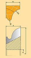 Фреза твердосплавная для изготовления погонажных изделий 160х32х42