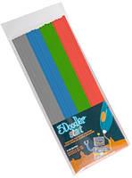 Набор стержней для 3D-ручки — МИКС (24шт: серый, голубой, зеленый, красный)