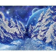 Схема на ткани для вышивания бисером Зимняя сказка