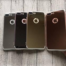 Силиконовый зеркальный чехол на iPhone 7plus