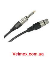 """Готовый кабель, джек моно(6,3) ↔ канон-""""мама"""" BIG MXJ001 10М"""