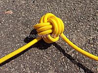 Желтый провод в текстильной оплетке (2х0,75)