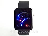Часы мужские - Бинарные - LED, черные, Flash light