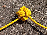 Желтый провод в текстильной оплетке (2х0,5)