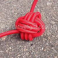 Красный провод в текстильной оплетке (2х0,5)