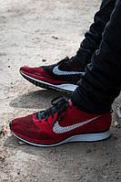 Кроссовки мужские Nike Flyknit Racers Red/Black