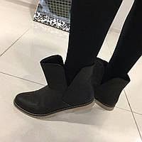 Женские зимние ботинки натуральная кожа, замша