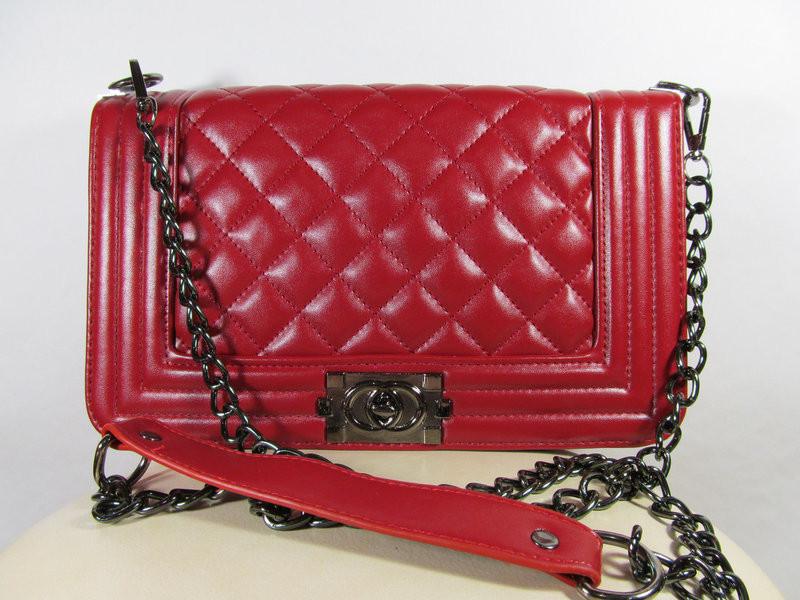 Клатч женский Шанель Бой (Chanel le Boy), реплика, большой, красный ... c5af08eca61