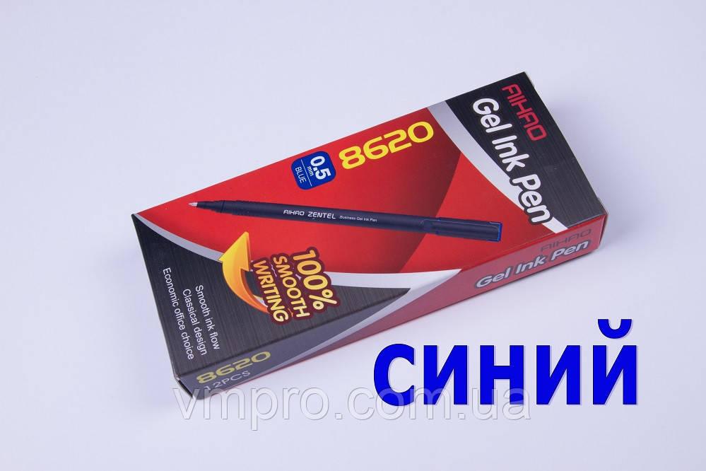 Ручки гелеві AIHAO AH-8620,Zentel,сині,0.5 mm,12 шт/упаковка