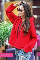 Демисезонное женское пальто ЭММА цвет красный