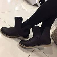 Демисезонные женские ботинки кожаные, замшевые