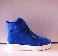Ботинки слипоны модные в разных цветах замша код 485