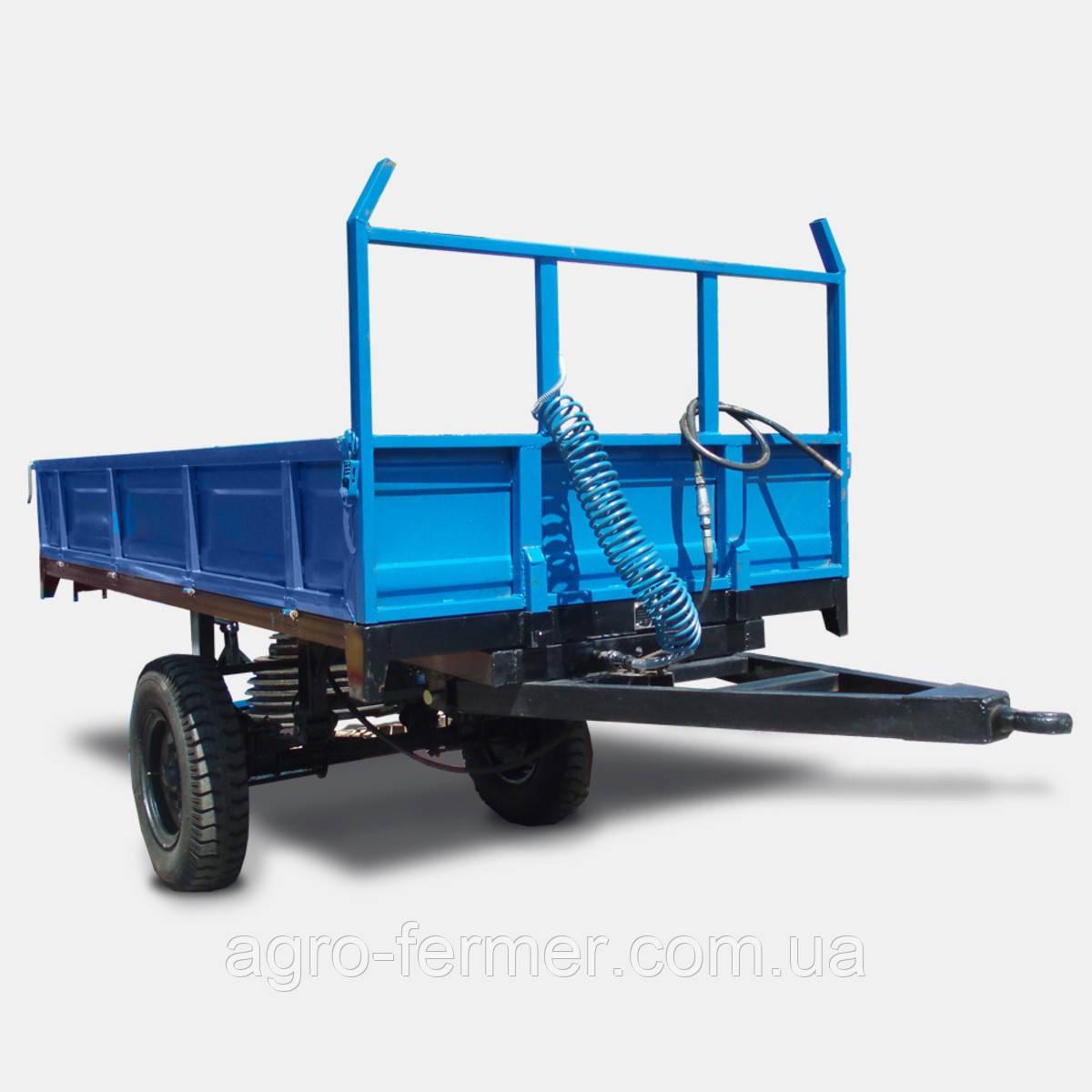 Причіп одноосний тракторний 1ПТС-2 (7CX-2, вантажопідйомність 2 т, ДхШхВ 2250x1500x450)