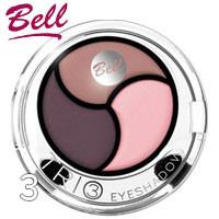 Bell - Тени для век 3-цветные Trio EyeShadows Тон 03 беж, розовые, сирень сатин