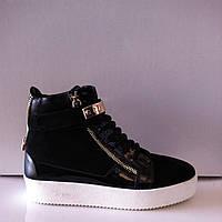 Слипоны ботиночки женские модные натуральная замша разных цветов код 486