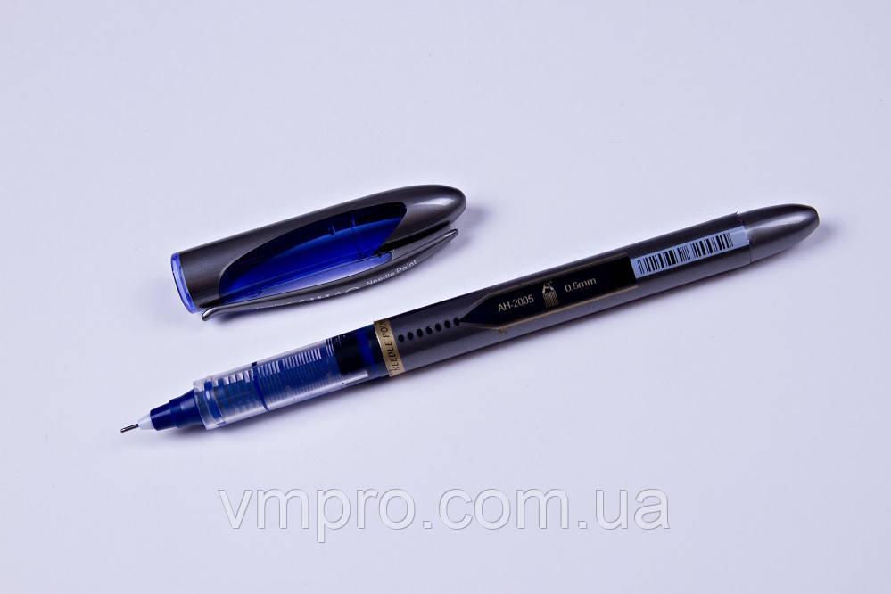 """Ручки капилярные """"ролер"""" AIHAO AH-2005,синие,0.5mm,12 шт/упаковка"""