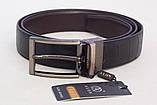 Чоловічий двосторонній ремінь Alon чорний / коричневий, фото 2