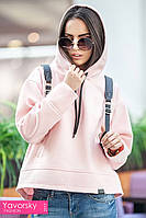 Женское пальто ЭММА  цвет пудра