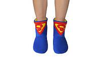 "Флисовые тапочки-сапожки ""Супермен"" (детские, размер 18-32)"