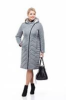 Классическое утепленное женское пальто из плащевой  ткани Мира Разные цвета