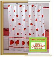 """Шторка для ванной комнаты """"Strawberry"""" или Клубника, Miranda. Производство Турция"""