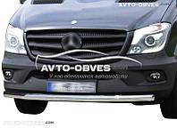 Защитная дуга переднего бампера для Mercedes Sprinter прямой ус (п.к. V001)