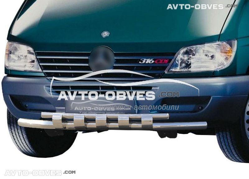 Защита переднего бампера для Mercedes Sprinter, двойной ус