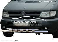 Защита переднего бампера двойная для Mercedes Vito 638