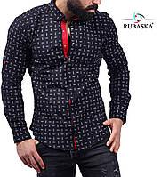 Рубашка мужская черного цвета, фото 1