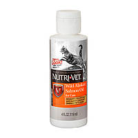 Nutri-Vet Wild Alaskan Salmon Oil 118 мл Масло дикого лосося, добавка для шерсти котов