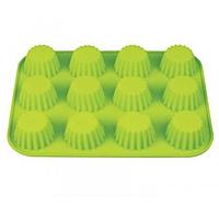 Силиконовая форма для выпечки Кексы фигурные на 12 ячеек