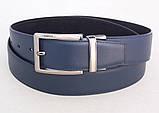 Замшевый ремень двухсторонний ALON черный синий, фото 2