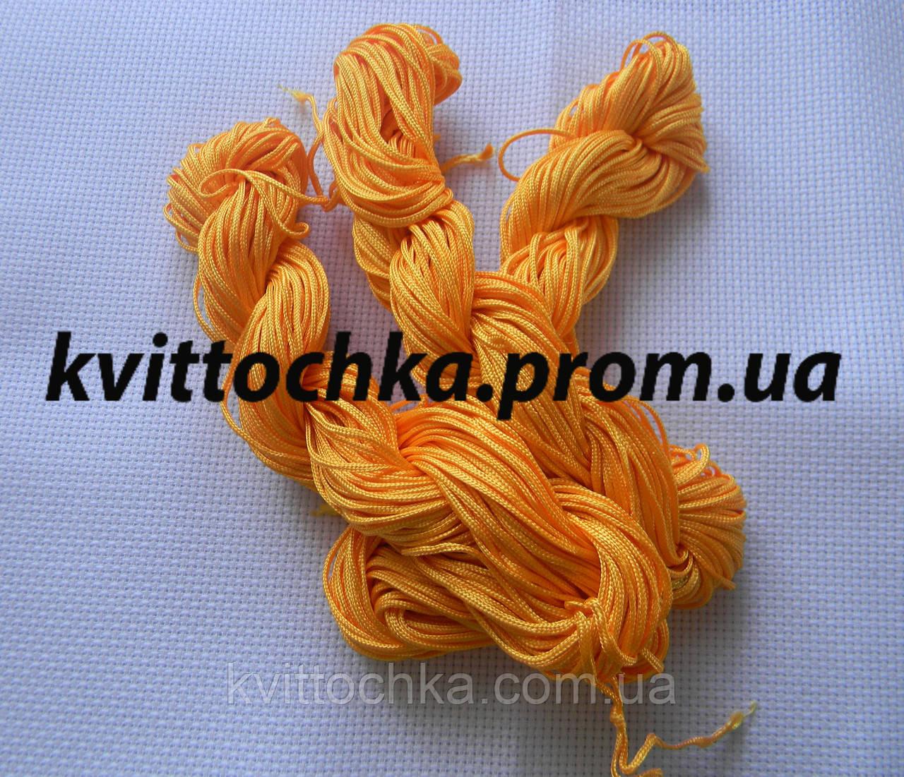 Шнур капроновый для плетения шамбалы - оранжевый