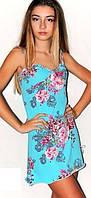 Ночная рубашка, ночная сорочка женская на бретелях, материал вискоза. Розница, опт в Украине., фото 1