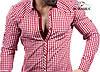 Рубашка мужская розового цвета в клетку